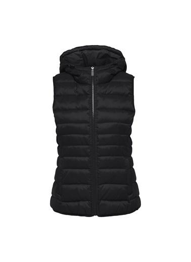 Only Kadın Yelek New Tahoe Quilted Hood 15205760-Blk Siyah